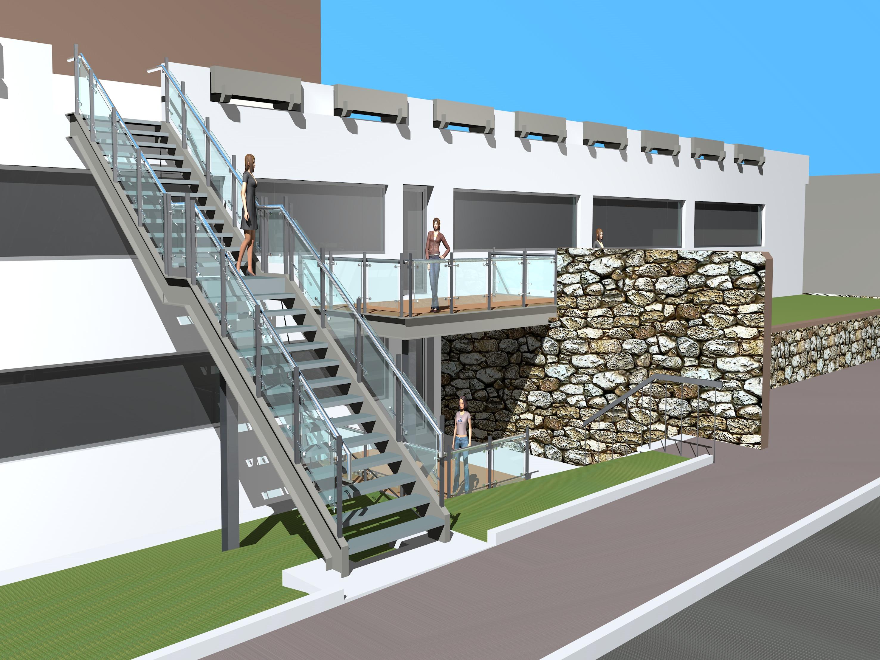 Neubau einer Treppenanlage