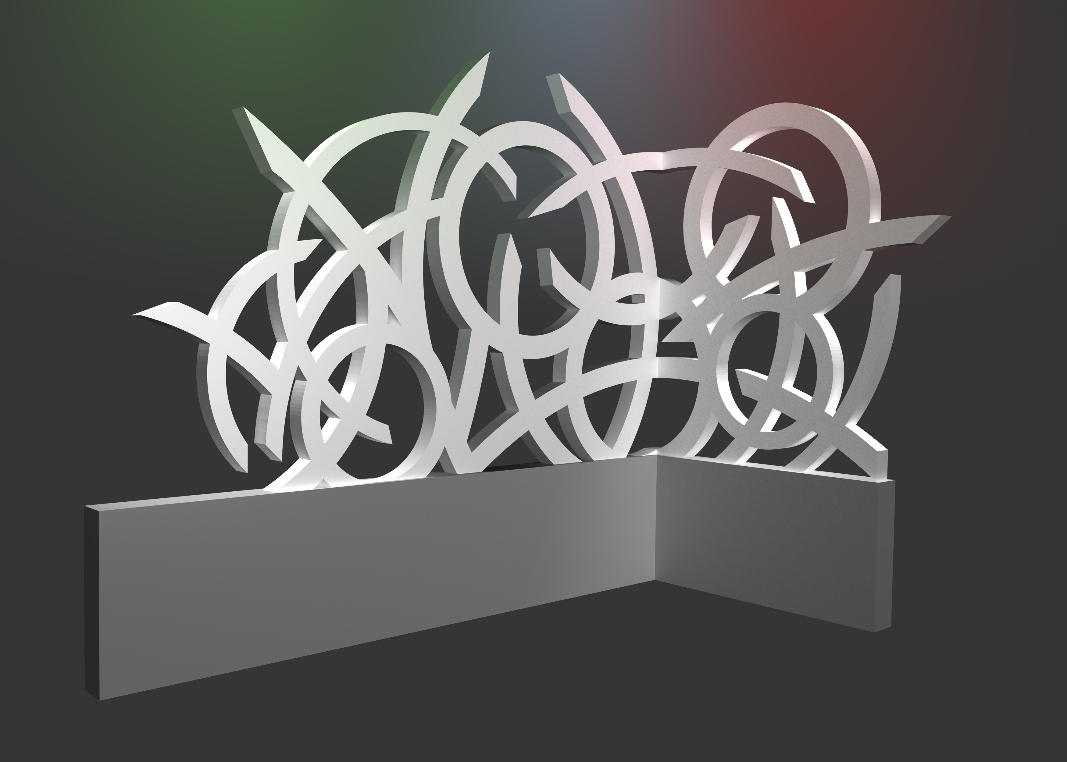 Skulptur-Wand